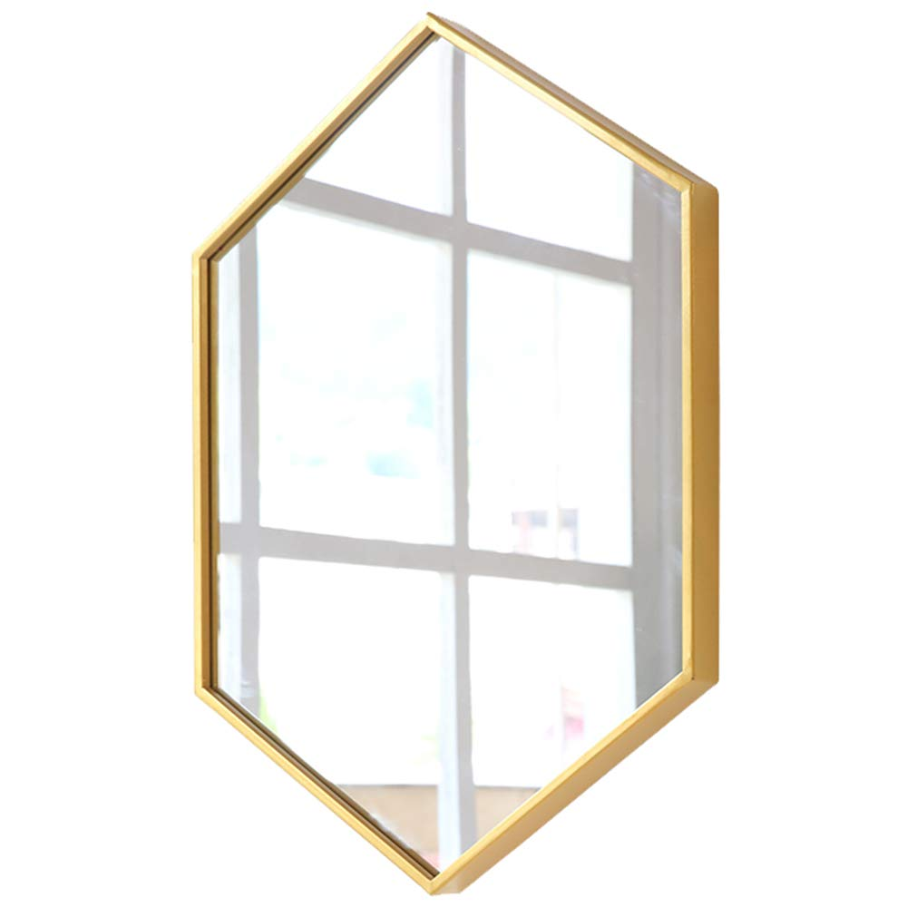 SXLL鏡 ドレッシングミラーデスクトップシンプルな北欧の錬鉄製の壁掛けバスルームの鏡バスルームの鏡の鏡 (色 : ゴールド, サイズ さいず : 50*70cm) B07L2R8XYN ゴールド 50*70cm