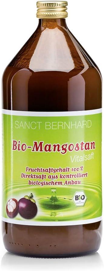 Zumo de Mangostán, biológico 100%, sin conservantes - 1 Litro