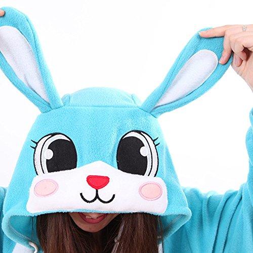 Coniglio di Halloween Adulto Unisex Kigurumi Festa Costume Blu Onesie SAMGU Pigiama Animale EqFwCf