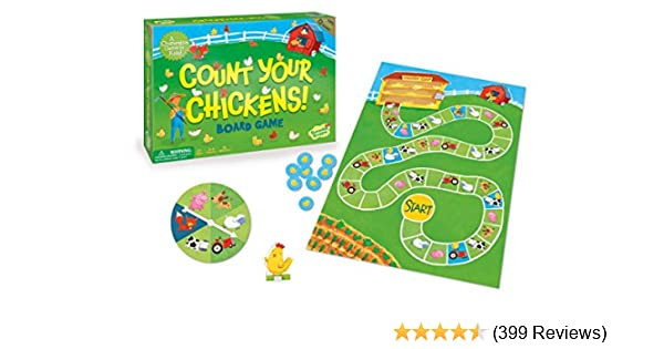 Amazon Peaceable Kingdom Count Your Chickens Cooperative Board