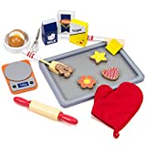 Sugar Sweet Bakery Set - 17-piece Wooden Baking Food Playset with Dry and Wet Mixing Ingredients, Scale, and Cookies by Imagination Generation