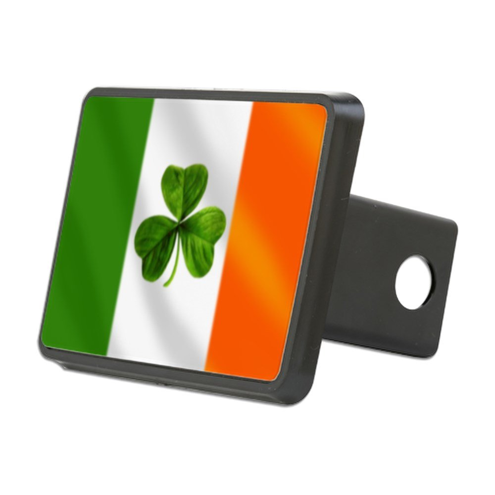 CafePress - Irish Shamrock Flag Hitch Cover - Trailer Hitch Cover, Truck Receiver Hitch Plug Insert