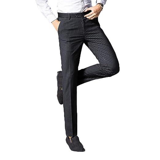 WYX Pantalones De Vestir De Hombre Pantalones De Negocios ...