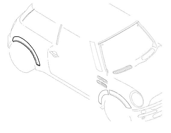 amazon mini mania mini cooper fender flare arch rear right oem Mini Cooper Performance Tires amazon mini mania mini cooper fender flare arch rear right oem gen1 r50 r52 r53 automotive