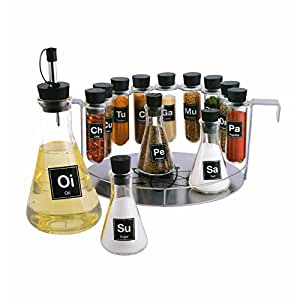Chemist's Spice Rack, 14 Piece Chemistry Spice Rack Set