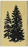 """Inkadinkado Mounted Rubber Stamp-Pine Trees 2.5""""X1.5"""""""