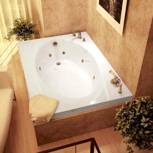 Atlantis Whirlpools 4272vcwl Vogue Rectangular Whirlpool Bathtub, 42 X 72, Center Drain, White