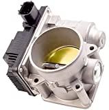APDTY 16119-AE01C Electronic Throttle Body Assembly w/Actuator IAC Idle Air Control TPS Position Sensor Fits 2002-2006 Nissan Altima Sentra Xtrail w/ 2.5L