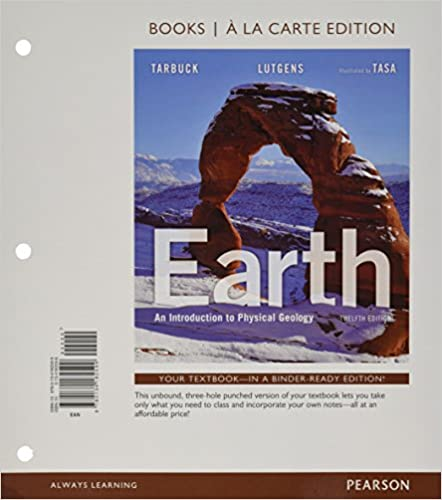earth an introduction to physical geology plus masteringgeology with etext access card package 11th edition
