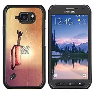 LECELL--Funda protectora / Cubierta / Piel For Samsung Galaxy S6Active Active G890A -- Hombre lobo Caza --