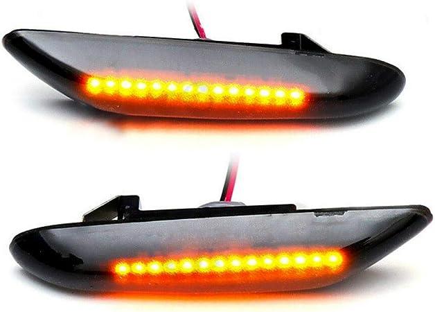 Feux de position lat/éraux avant avec clignotants LED ambre pour E46 E60 E61 E81 E82 E83 E84 E87 E90 E91 S/érie 1 3 5 X