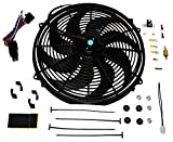 A-Team Performance 180081 16inches Radiator Electric Cooling Fan Heavy Duty 12V Wide Curved
