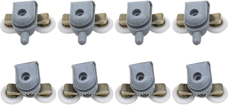 Clarmonde - 8 rodillos dobles para puerta de ducha, corredores ...