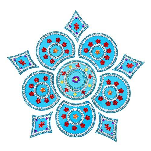 (AMBA HANDICRAFT Rangoli/Home Decor/Diwali / Gift for Home/Interior Handcrafted/Floor Stickers/Wall Stickers/Wall Decoration/Floor Decoration/New Year Gift/Party. Rangoli 25)