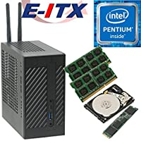 Asrock DeskMini 110 Intel Pentium G4600 (Kaby Lake) Mini-STX System , 8GB Dual Channel DDR4, 480GB NVMe M.2 SSD, 1TB HDD , WiFi, Bluetooth, Pre-Assembled and Tested by E-ITX