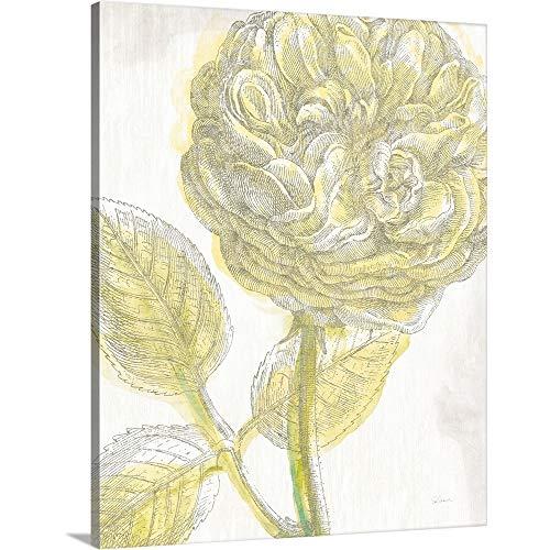 Belle Fleur Yellow III Crop Canvas Wall Art Print, ()