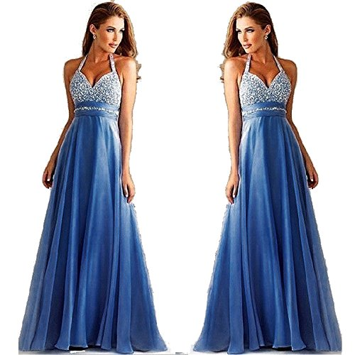 Women Long Sexy Evening Party Ball Prom Gown Formal Bridesmaid Cocktail Dress (Large)