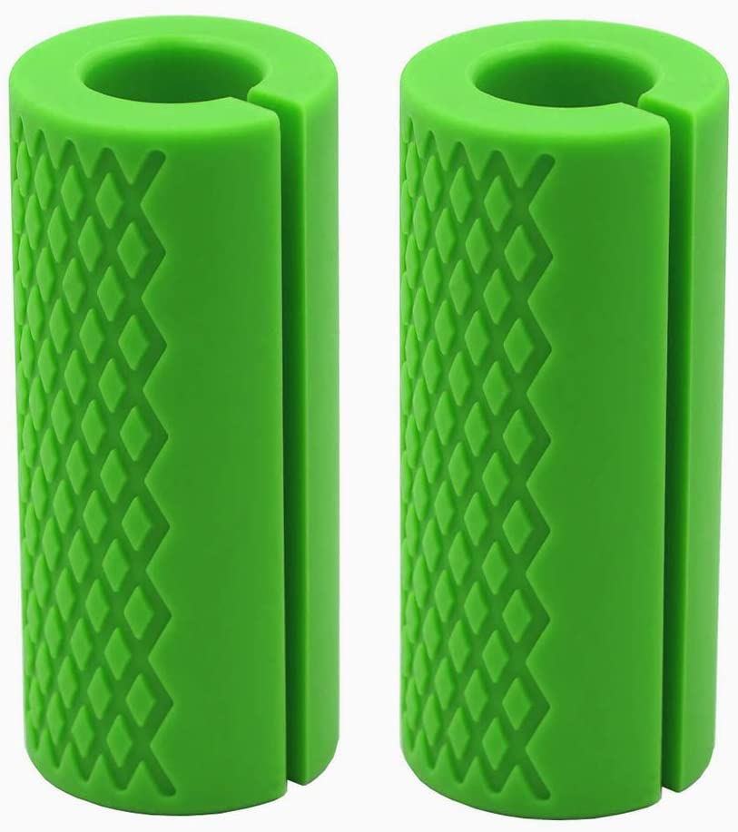 Barbell Grips-Thick Bar Fat Grips for Weightlifting 1 inch-Dumbbell Handles Stress Relieve Alpha Grip Hand Protector Pull up Tape Arm Blaster Adapter for Standard Hex Bicep Tricep Threaded Shrug Bars.
