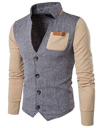 Caqui Chaquetas Botón Cotton Clásico Sportswear Jacket Button Hombre Cotton RqaIF8Rw
