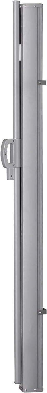 3L x 1,60H m alu Outsunny Store lat/éral Brise-Vue paravent r/étractable dim Polyester Anti-UV Haute densit/é 180 g//m/² Noir
