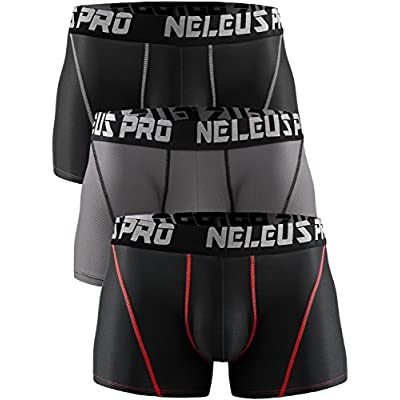 Discount Neleus Men's 3 Pack Brief Athletic Sport Underwear