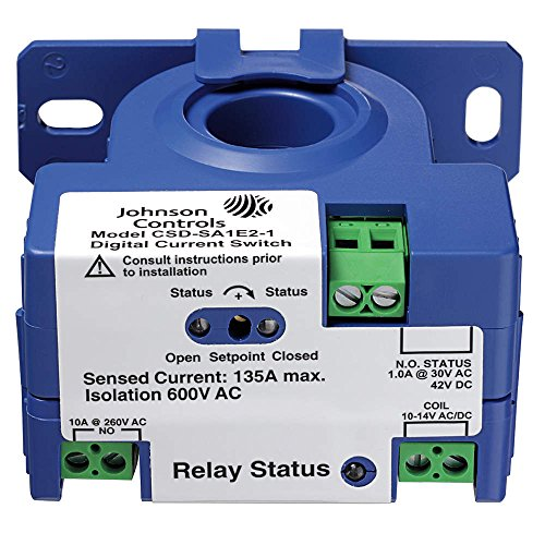 Johnson Controls CSD-SF0C0-1 Current Sensing Relay, 0.25A, Self Powered