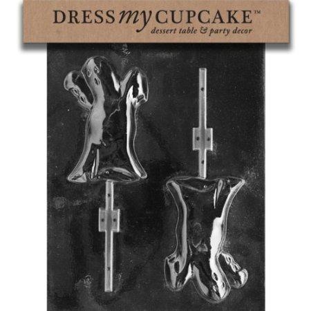 Robingift Dress My Cupcake DMCH027 Chocolate Candy Mold, Ghost Lollipop, -
