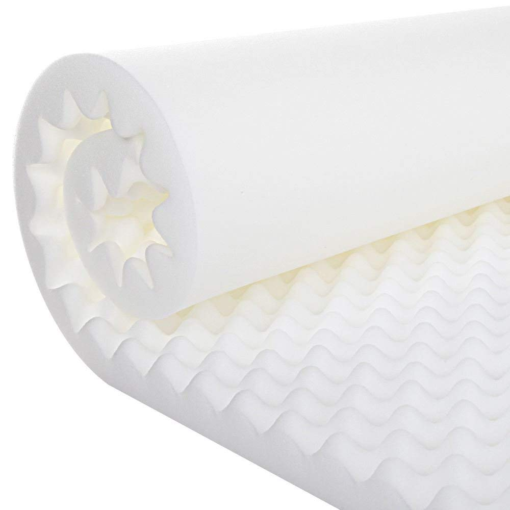 Gilbin Egg Crate Foam, Cot Size 30'' x 74'' Fits Camp Cots (1 1/2'') by Gilbin