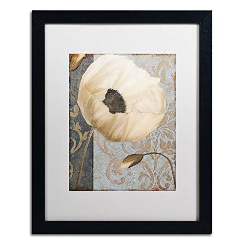 (Poppy Brocade I by Color Bakery, White Matte, Black Frame 16x20-Inch)