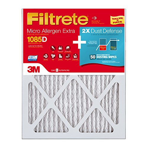 Filtrete 2-Pack Micro Allergen Extra with Dust Reduction (Common: 25-in x 16-in) Electrostatic Pleated Air Filters