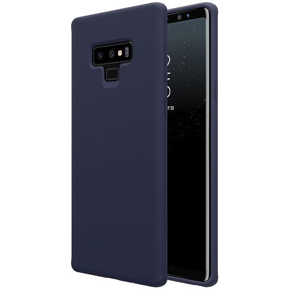 55c6a79783e Galaxy Note 9 Case, Liquid Silicone Gel Rubber Matte Anti Scratch Thin  Ultra Slim Case