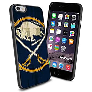 NHL HOCKEY Buffalo Sabres Logo, Cool iPhone 6 Smartphone Case Cover Collector iphone TPU Rubber Case Black