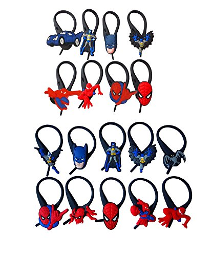 AVIRGO 18 pcs Soft Zipper Pull Charms for Jacket Backpack Bag Pendant Set # 212 -3