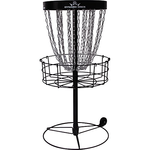Dynamic Discs Recruit Portable Disc Golf Basket | 26-Chain Disc Golf Target | Portable Wheel Attachment for Easy Mobility | Tension Screws for Increased Stability | Standard PDGA Approval | 3