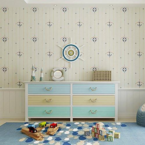 - Okydoky Modern Kids Wallpaper,Blue,Living Room Bedroom Kitchen Background No.3302