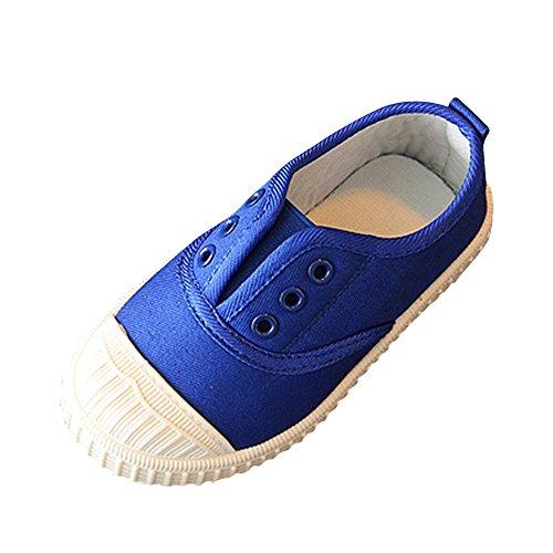 OCHENTA Kinder Mädchen Jungen Sneaker Turnschuh Sportschuhe Schnürsenkel Freizeit Saphirblau