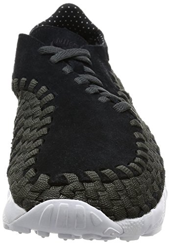 Nike Mens Air Footscape Tessuto Nm Scarpa Casual Nero / Nero-antracite-bianco