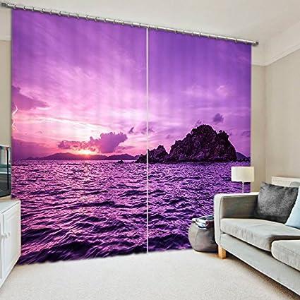 Amazon Com Wapel Shade Fabric Coast Scenery Printing Blackout 3d