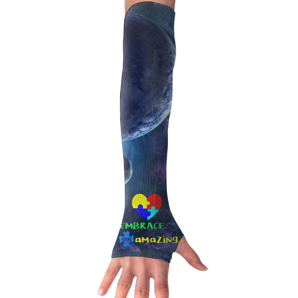 Autism Awareness Embrace The Amazing Unisex Protection Hand Cover Arm Sleeves Cool Cover Sun For Outdoor Activities 1 Pair
