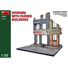 MiniArt Models 1/35 Ruined Buildings Diorama Base with bonus figure set by Dragon Models