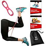 Sargoby Fitness Easy to use Butt Resistance Band | Sculpt & Tone Your Bum Thighs with Booty Bands Resistance Bands | The Boot