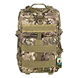 Tactical Backpack - TOPQSC Tactical Rucksack, Waterproof 600D Oxford fabric Outdoor Tactical Bag Shoulder Expandable Hunting Tactical Daypack Sport Casual Backpack for Camping Travel Hunting 45L Medium CP (Clearance)