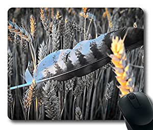 Feather In Field Mouse Pad Desktop Laptop Mousepads Comfortable Office Mouse Pad Mat Cute Gaming Mouse Pad