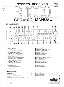 R 1000 stereo receiver service manual yamaha for Yamaha receiver customer support phone number