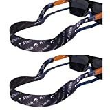 TORTUGA STRAPS FLOATZ Relaxed Fit Java Black -2 Pk Floating Sunglass Straps
