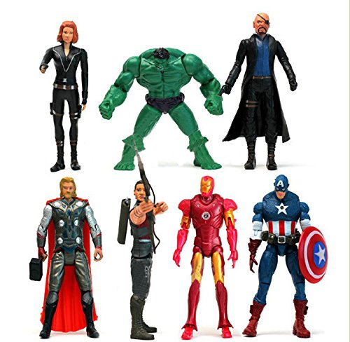 New Super Hero Marvel The Avengers 6 inch Lot of 7pcs Action Figures Gift Toys (Batman Costume Sydney)