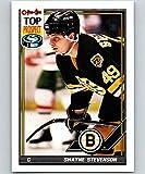 1991-92 O-Pee-Chee Hockey #121 Shayne Stevenson Boston Bruins Official NHL Trading Card Produced By Topps