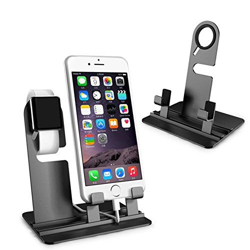 NNDA CO Aluminum Alloy Charging Dock Station Charging Holder For iPhone Apple Watch