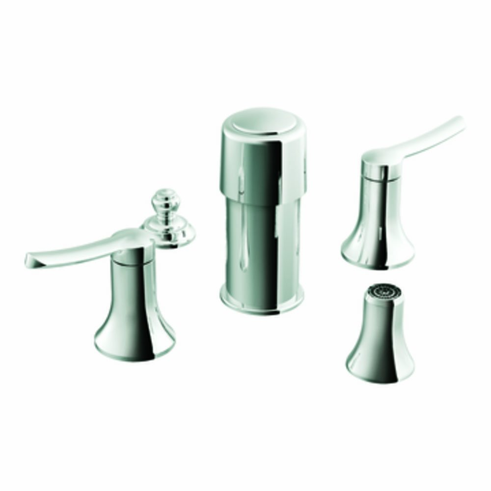 Moen TS41705 Fina two-handle bidet faucet Chrome Moen Incorporated valve not included