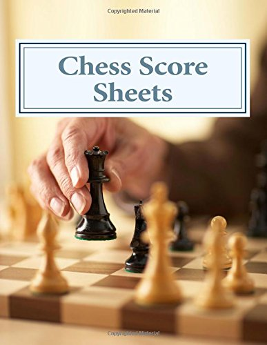 Chess Score Sheets AmazonCoUk Peter Enfield  Books